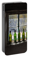 Green Bottles In Window Portable Battery Charger