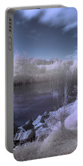 Portable Battery Charger featuring the photograph  Infrared Pond by Beverly Cash