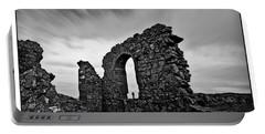 Llanddwyn Island Ruins Portable Battery Charger by Beverly Cash