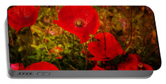 Portable Battery Charger featuring the photograph  Poppies by Beverly Cash