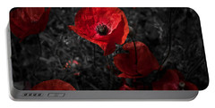 Portable Battery Charger featuring the photograph  Poppy Red by Beverly Cash
