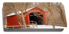 Portable Battery Charger featuring the photograph  Sandy Creek Cover Bridge  by Peggy Franz