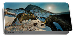 Spring Snows At Tryfan Portable Battery Charger