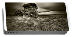 Portable Battery Charger featuring the photograph  Stone Guardian by Beverly Cash