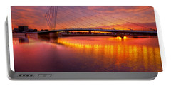 Portable Battery Charger featuring the photograph  Sunset Over The Quay by Beverly Cash