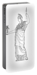 Athena, Greek Goddess Portable Battery Charger by Photo Researchers