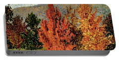 Autumn Landscape Portable Battery Charger by Henri-Edmond Cross