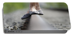 Balance On Railroad Tracks Portable Battery Charger