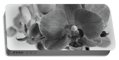 Black And White Orchid Portable Battery Charger