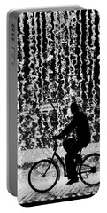 Cycling Silhouette Portable Battery Charger by Carlos Caetano
