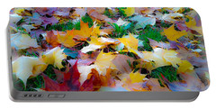 Fall Leaves Portable Battery Charger by Steve McKinzie