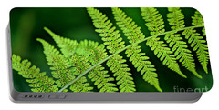 Portable Battery Charger featuring the photograph Fern Seed by Sharon Elliott