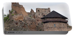 Portable Battery Charger featuring the photograph Filakovo Hrad - Castle by Les Palenik