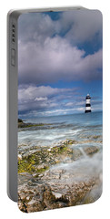 Fishing By The Lighthouse Portable Battery Charger