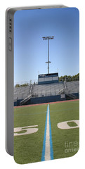 Portable Battery Charger featuring the photograph Football Field Fifty by Henrik Lehnerer