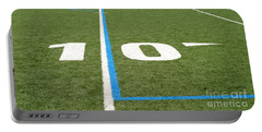 Portable Battery Charger featuring the photograph Football Field Ten by Henrik Lehnerer