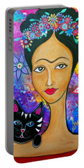 Frida And Her Cat Portable Battery Charger