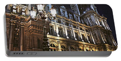 Hotel De Ville In Paris Portable Battery Charger