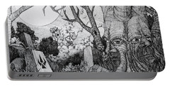 Portable Battery Charger featuring the drawing In My Garden  by Mariusz Zawadzki
