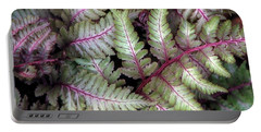 Portable Battery Charger featuring the photograph Japanese Painted Fern by Chris Anderson