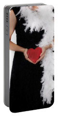Lady With Heart Portable Battery Charger by Joana Kruse