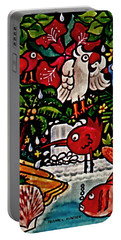Life In Jamaica Portable Battery Charger by Frank Hunter