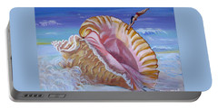 Magic Conch Shell Portable Battery Charger by Phyllis Kaltenbach