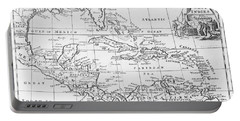 Map Of The West Indies Florida And South America Portable Battery Charger