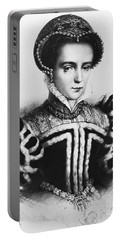Mary I, Queen Of England And Ireland Portable Battery Charger by Omikron