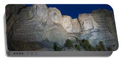 Mount Rushmore Nightfall Portable Battery Charger by Steve Gadomski