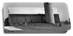 Old Barn And Silo Portable Battery Charger by Pamela Walrath