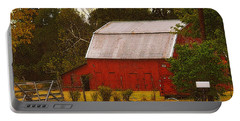 Portable Battery Charger featuring the photograph Ozark Red Barn by Lydia Holly