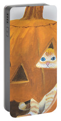 Portable Battery Charger featuring the painting Peekaboo by Norm Starks