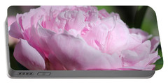 Peony Named Shirley Temple Portable Battery Charger by J McCombie