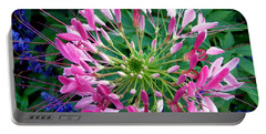 Portable Battery Charger featuring the photograph Pink Flower by Stephanie Moore