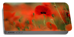 Poppy Flowers 01 Portable Battery Charger