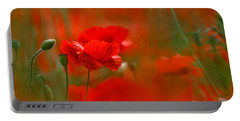 Poppy Flowers 02 Portable Battery Charger