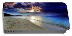 Port Stephens Sunset Portable Battery Charger by Paul Svensen