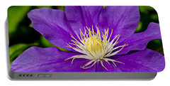 Purple Clematis Flower Portable Battery Charger