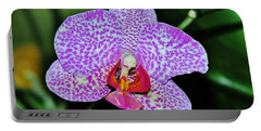 Portable Battery Charger featuring the photograph Purple Orchid by Sherman Perry