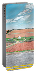 Red Soil On Prince Edward Island Portable Battery Charger
