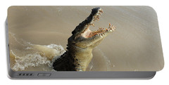 Salt Water Crocodile 2 Portable Battery Charger by Bob Christopher
