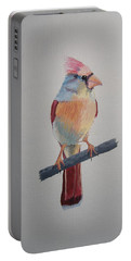 Spring Cardinal Portable Battery Charger by Norm Starks