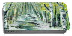 Portable Battery Charger featuring the painting Spring by Shana Rowe Jackson