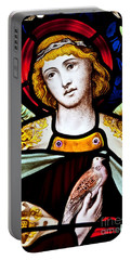 Portable Battery Charger featuring the photograph Stained Glass Angel by Verena Matthew