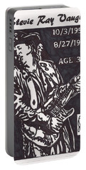 Portable Battery Charger featuring the drawing Stevie Ray Vaughn by Jeremiah Colley