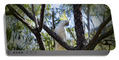 Sulphur Crested Cockatoo Portable Battery Charger by Douglas Barnard