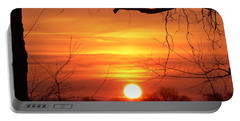 Sunrise In Tennessee Portable Battery Charger by EricaMaxine  Price