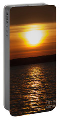 Portable Battery Charger featuring the photograph Sunrise On Seneca Lake by William Norton