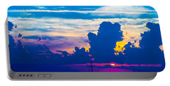 The Purple Sunset Portable Battery Charger by Shannon Harrington